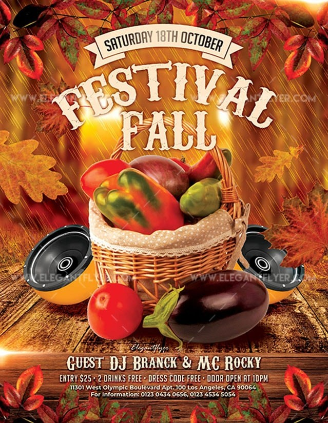 Fall Festivals - Free PSD Flyer Template - Free PSD Flyer Templates