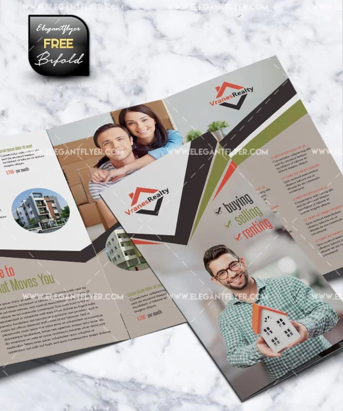 Real Estate - Tri-Fold Brochure - Free PSD Template - Free PSD Flyer