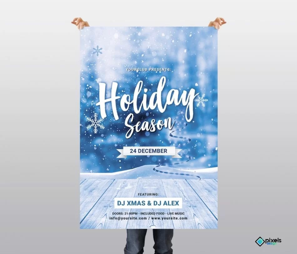 Holiday Season \u2013 Free PSD Flyer Template - Free PSD Flyer Templates