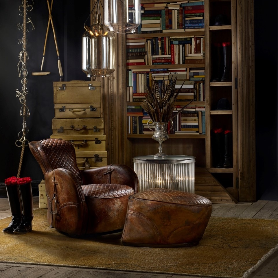 Ashley Furniture Reviews Timothy Oulton Saddle Easy Chair & Footstool | Stocktons