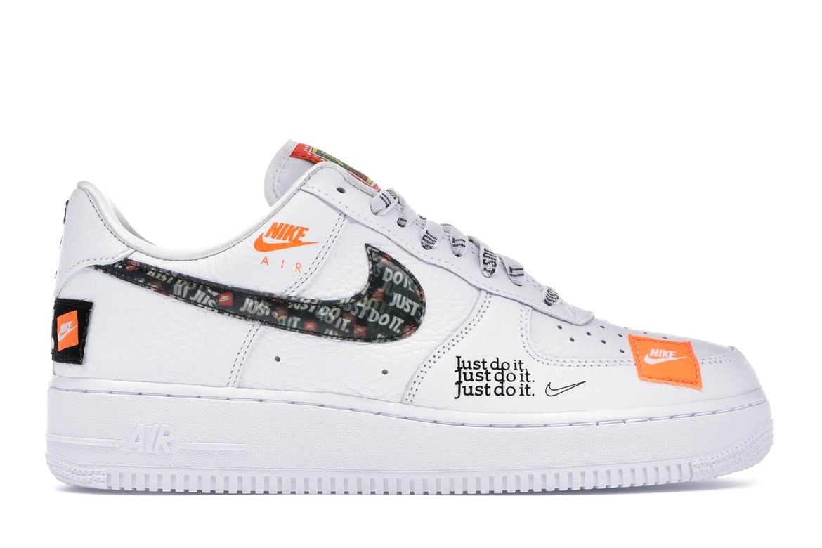 Nike Do Air Force 1 Low Just Do It Pack White Black