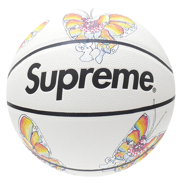 Basketball Ball Supreme Gonz Butterfly Spalding Basketball White