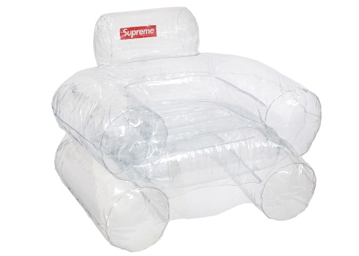 Supreme Furniture Chairs Price Supreme Inflatable Chair Clear Fw18