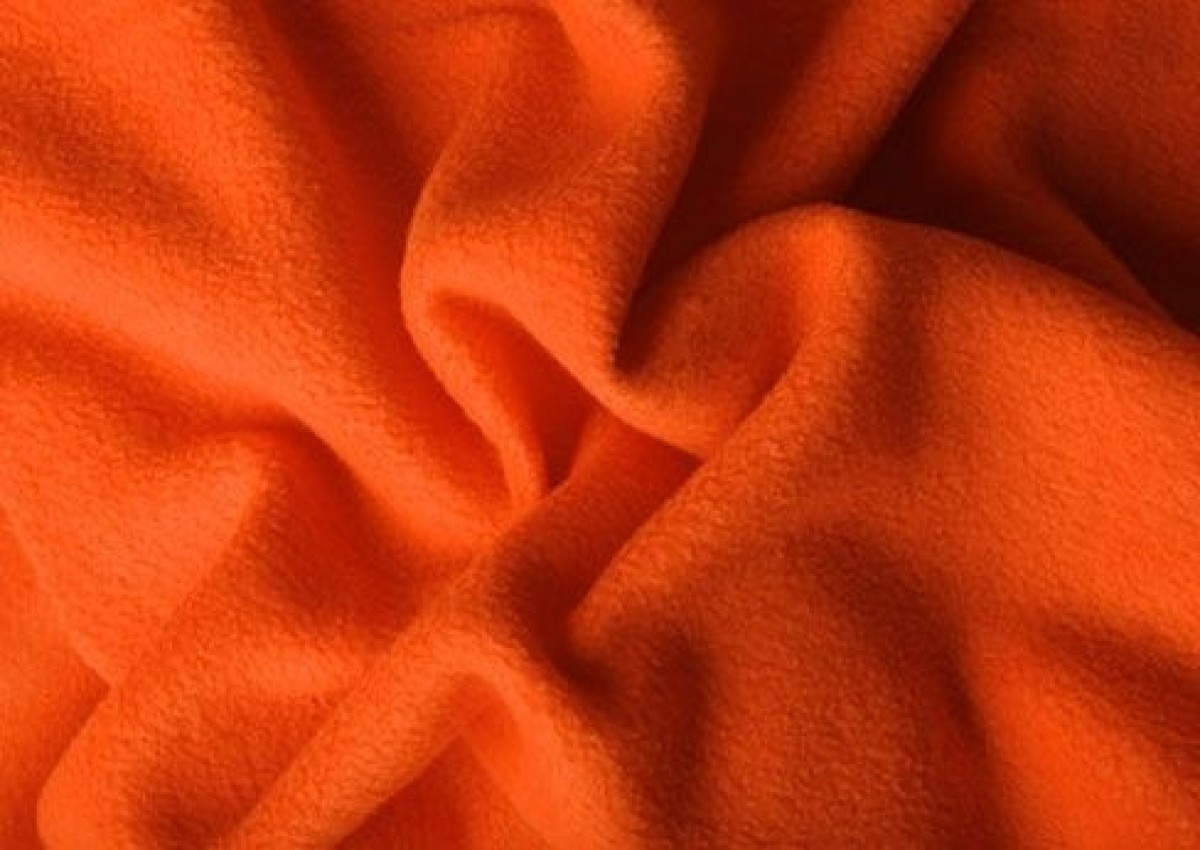 Der Stoff Handel Fleece Antipilling Orange