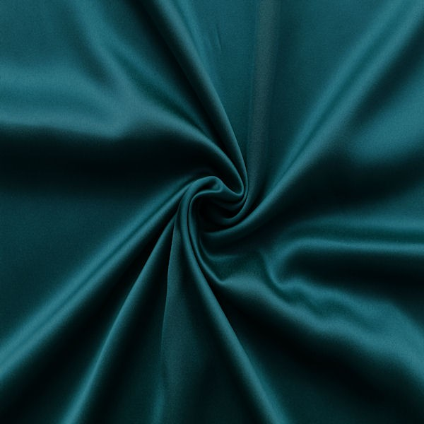Stoff Petrol Stretch Satin Stoff 2 Farbe Petrol | Stretch Satin | Satin