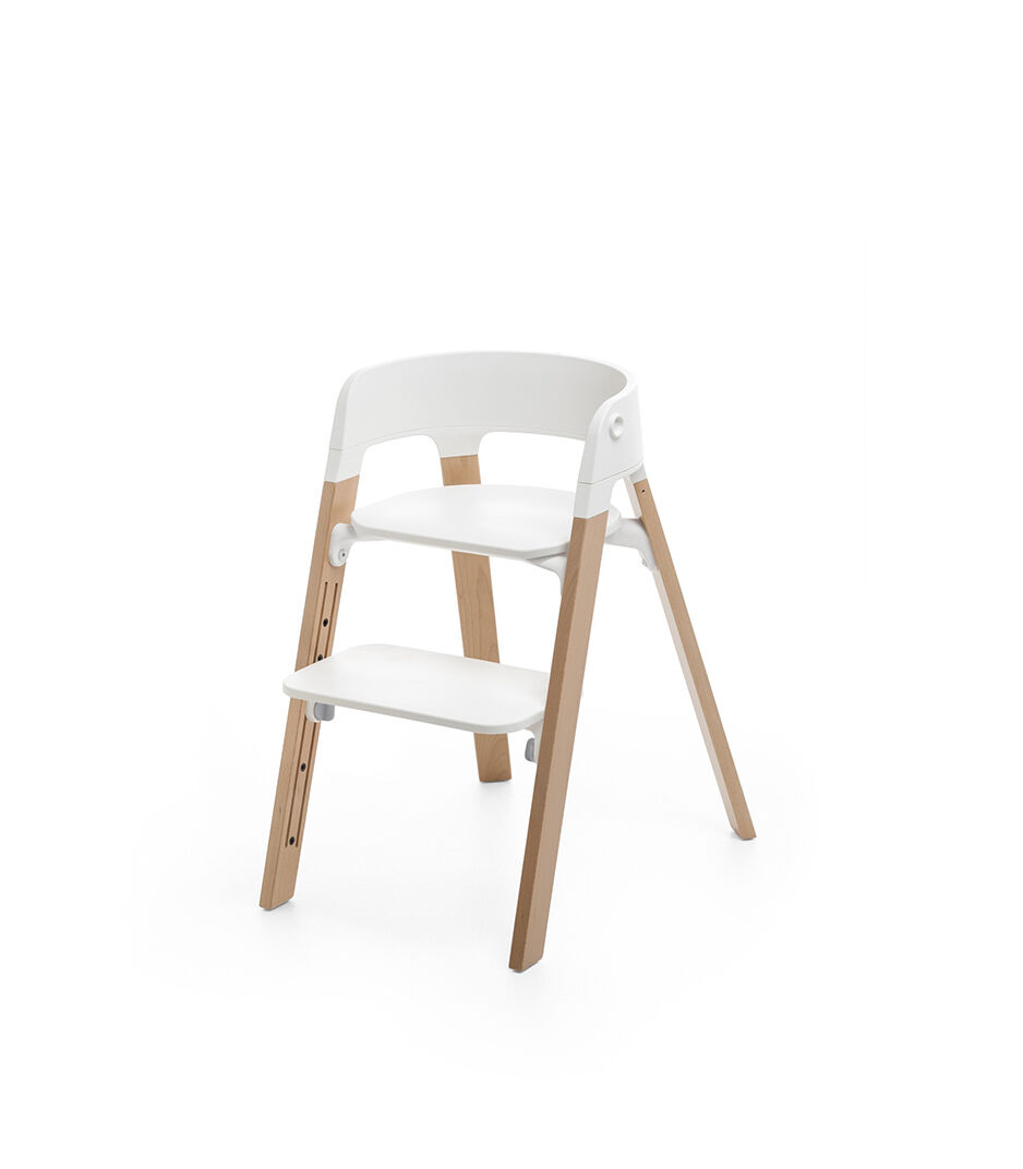 Sedia Comoda Da Viaggio Stokke Steps Chair White Seat Natural Legs