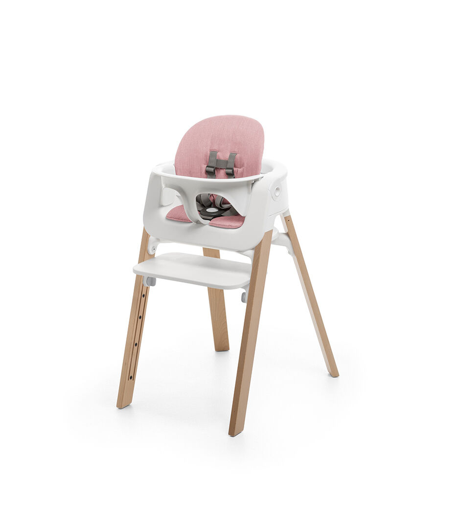 Kinderhochstuhl Stokke Stokke Steps Chair White Seat Natural Legs