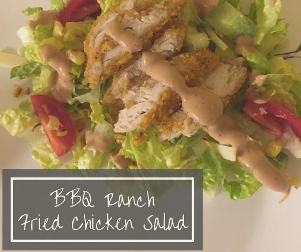bbq ranch fried chicken salad