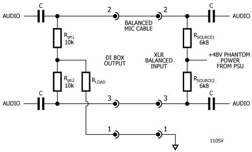 figure 1 phantom power equivalent circuits
