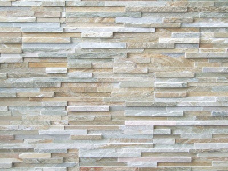 3d Tile Effect Wallpaper Stack Stone Cladding 1