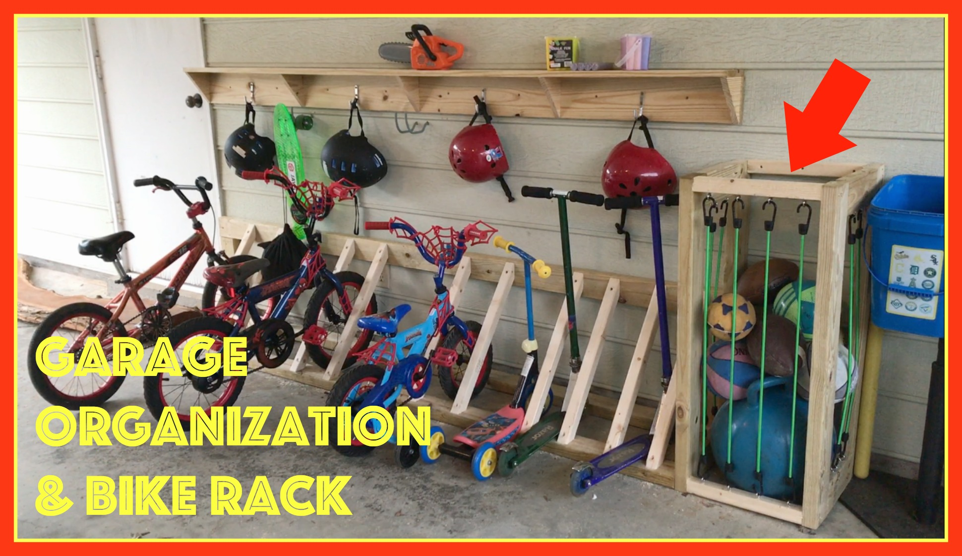 Garage Organization And Bike Rack Stone And Sons Workshop
