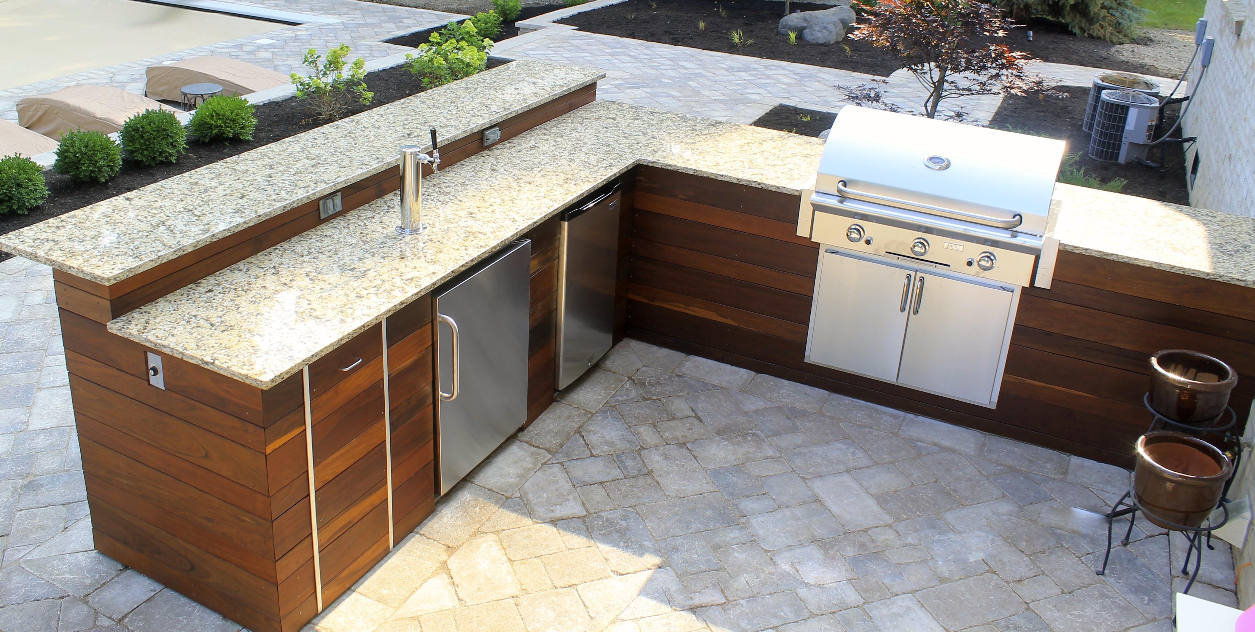 Weber Outdoor Küche Deutschland : Weber grill in outdoor küche integrieren outdoorküche gemauert mit