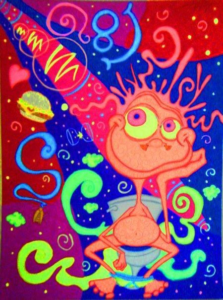 Marijuana Animated Wallpaper Adriel Restrepo Featured Marijuana Artist Stoner Artwork