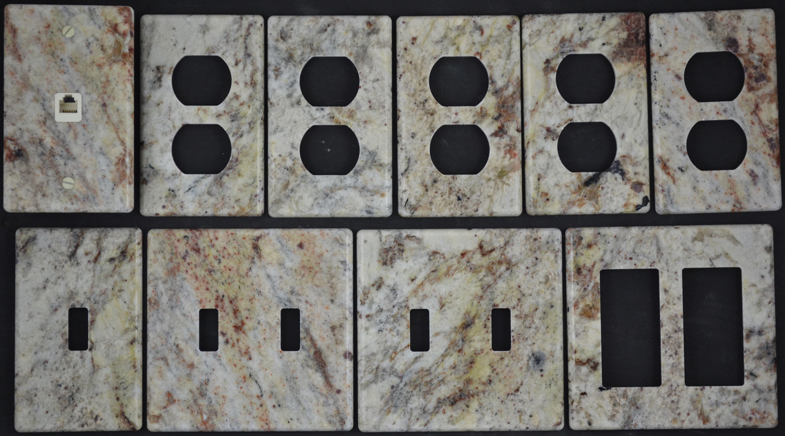 Unique Switchplates And Outlet Covers Photo Gallery Of Custom Granite Travertine Marble Stone
