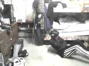 Surveillance footage from the Graham County Juvenile Detention Center shows a teen unable to masturbate.
