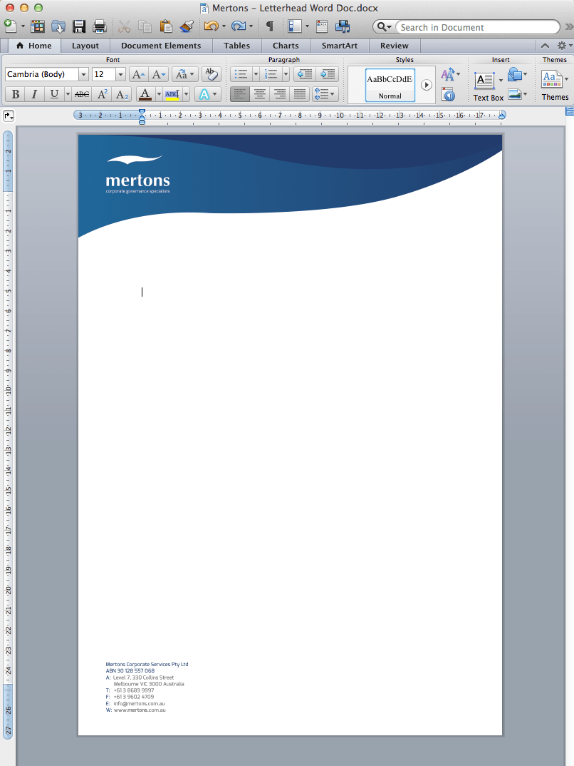 Word Document Letterhead Template – Letterhead Format Word