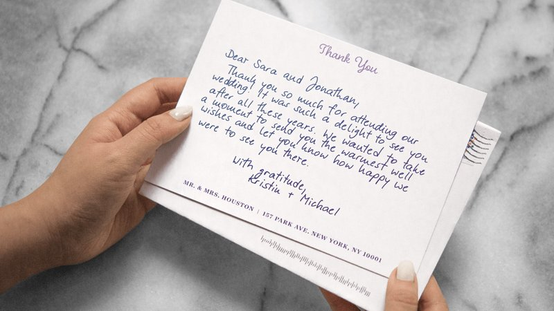 Wedding thank-you notes are hard Here\u0027s how to get \u0027em done