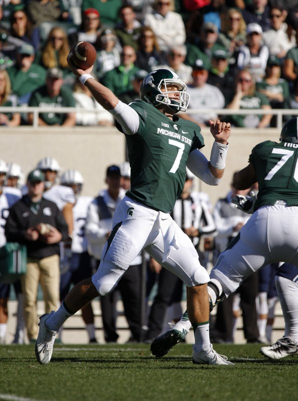 Michigan State listing 3 QBs atop depth chart