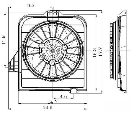 2003 Chrysler Voyager Engine Cooling Fan Assembly AutoPartsKart