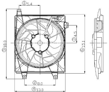 1997 Hyundai Tiburon Engine Cooling Fan Assembly AutoPartsKart