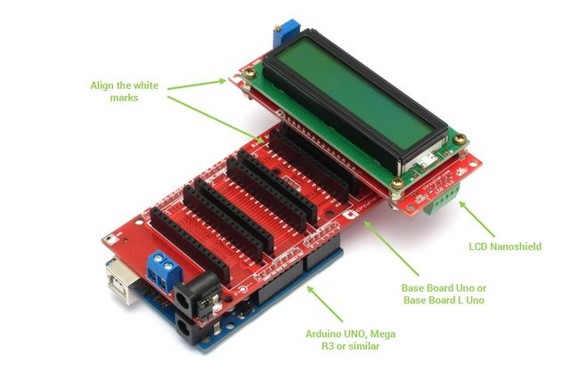 LCD - 16x2 character LCD with I2C interface - Arduino-compatible