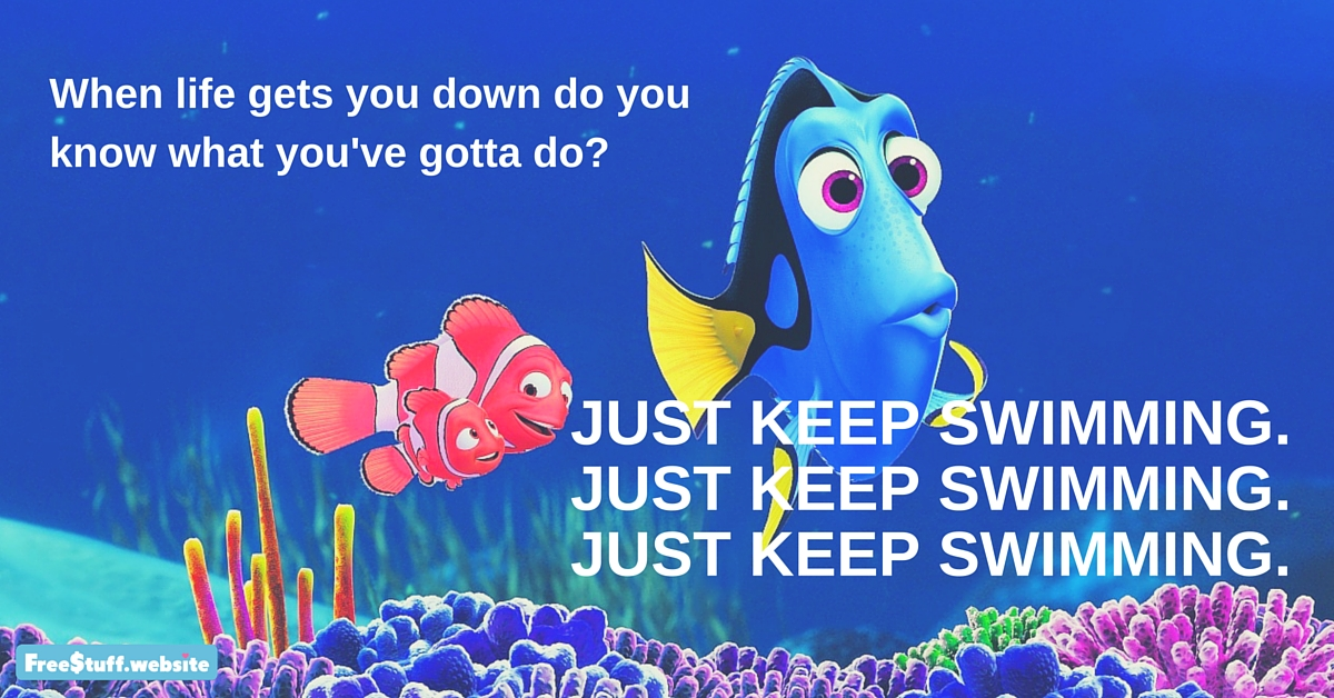 Never Back Down Quotes Wallpaper Hd Just Keep Swimming