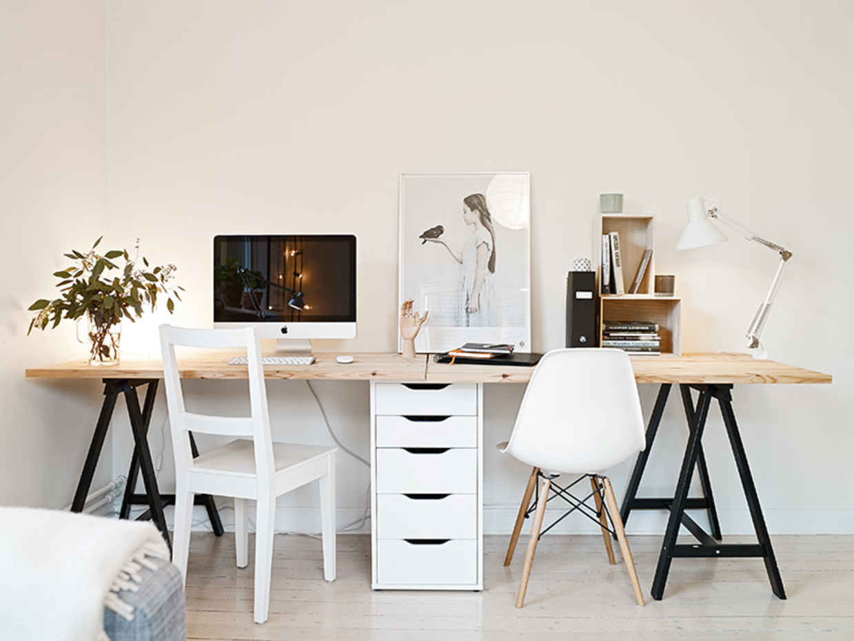 Ikea Trestle Legs Quick Easy Diy Desk Ideas Projects Apartment Therapy