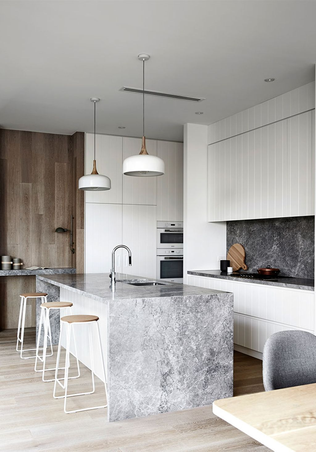 White Marble Island Kitchen Design Black Marble Is The New White Marble Apartment