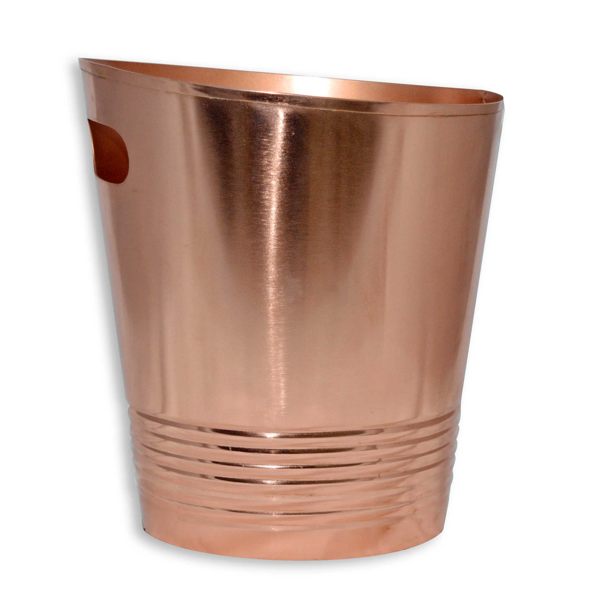 Copper Trash Can With Lid Stylish Small Bathroom Trash Cans For 15 Or Less Apartment Therapy