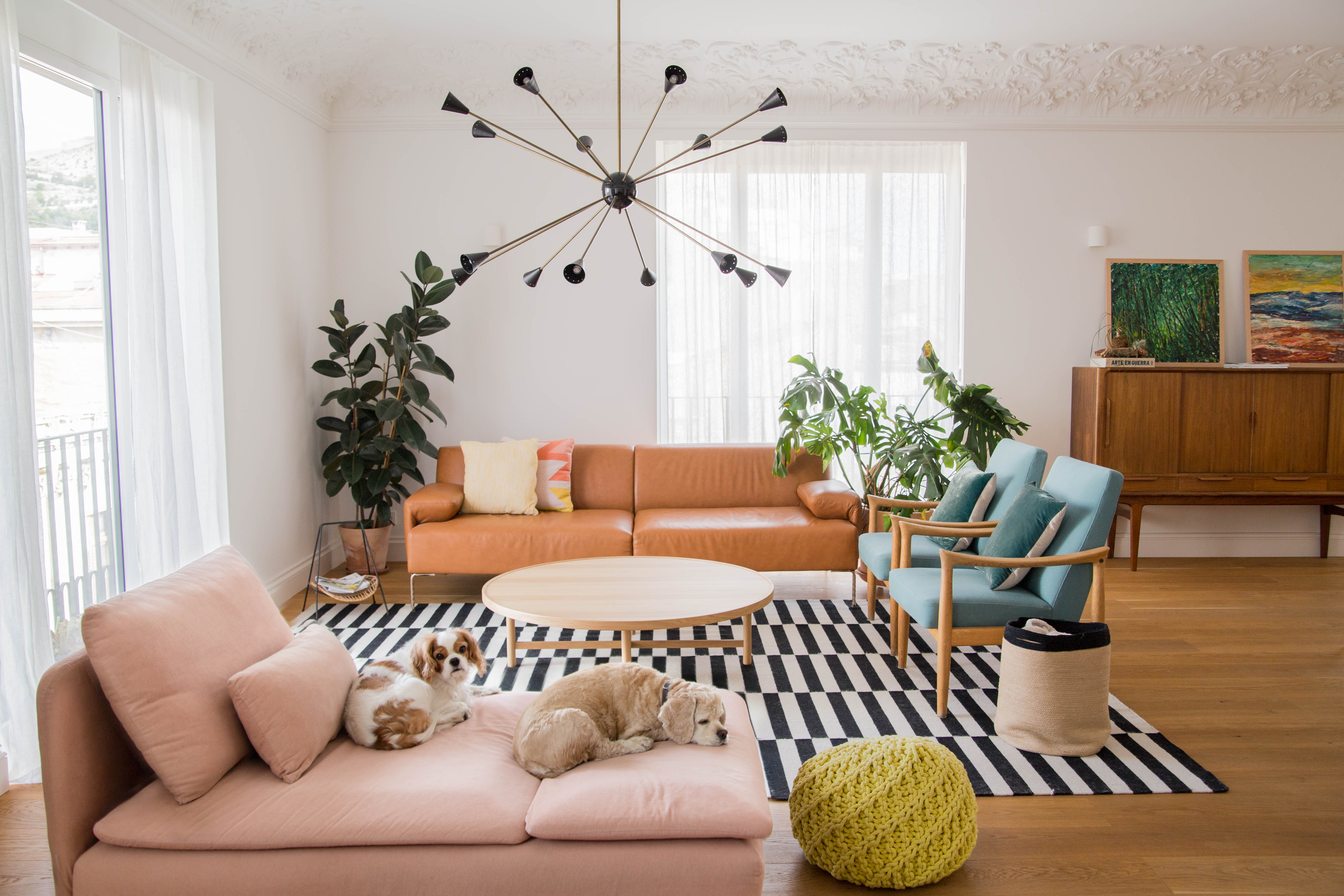 Sofa Kenay Home House Tour A 1950s Apartment S First Renovation Apartment Therapy