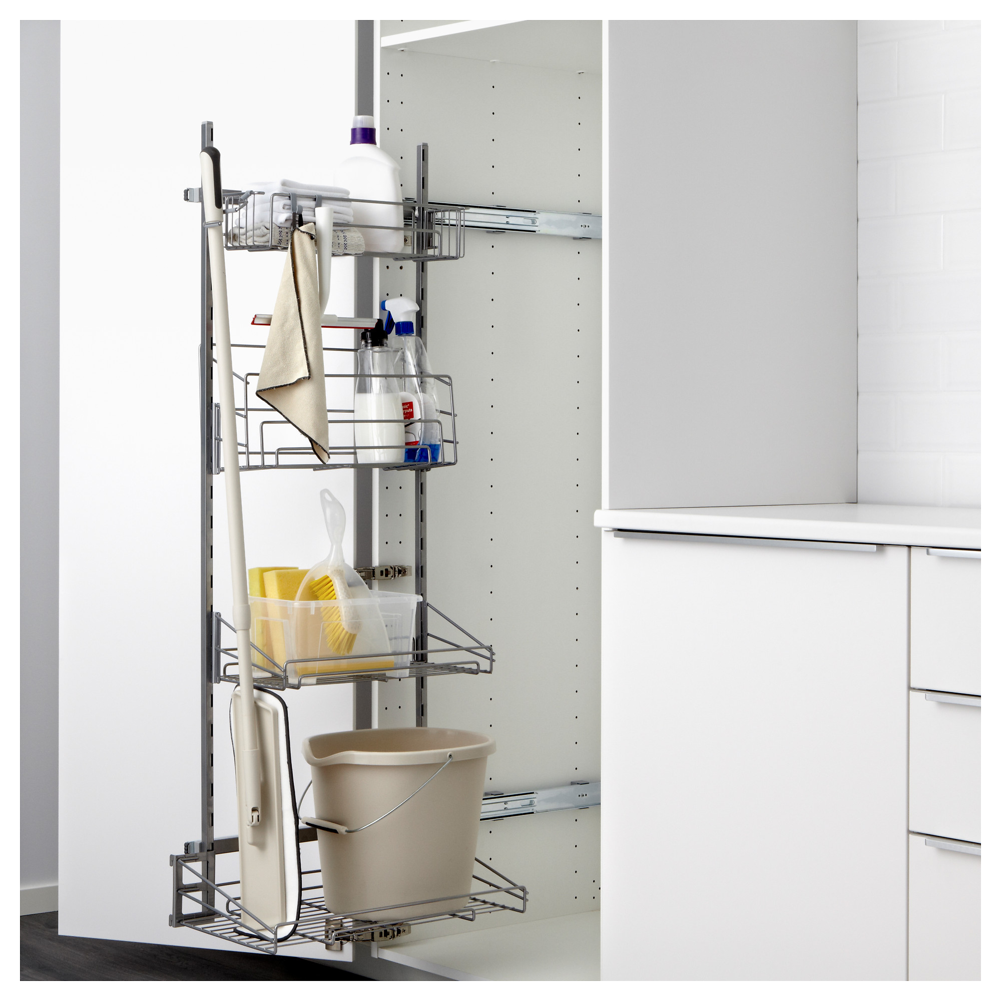 Ikea Wardrobe Leaning To One Side The Best Ikea Kitchen Cabinet Organizers Apartment Therapy