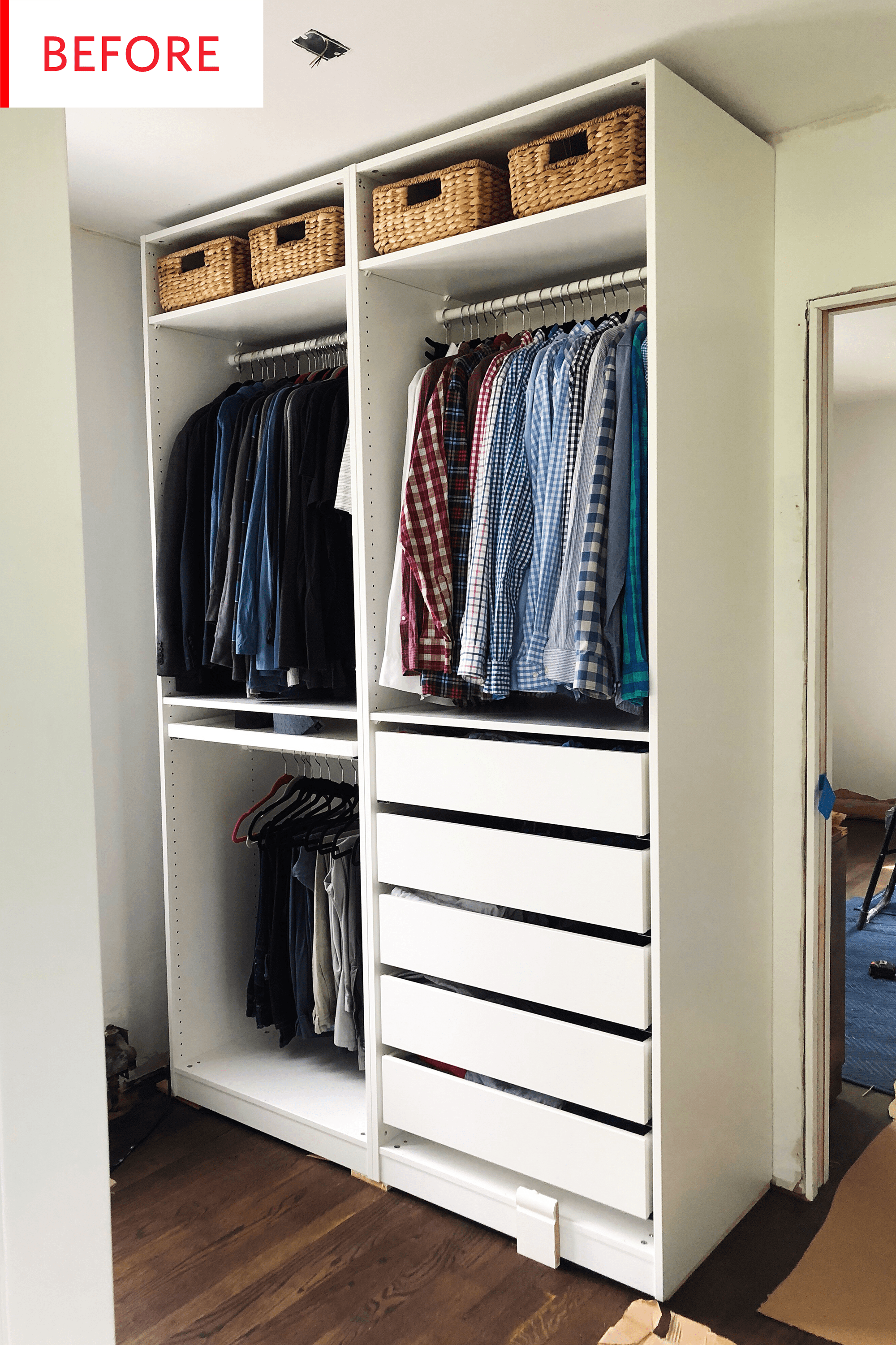 Ikea Pax Click And Collect Smart Ikea Pax Closet Hack Before And After Photos