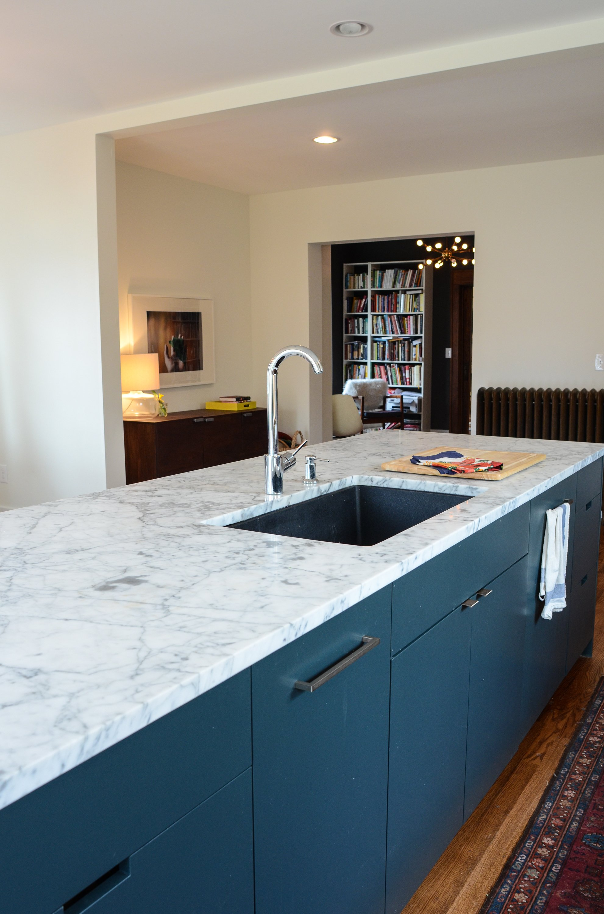 White Carrera Marble Kitchen Countertops My Experience Of Living With Marble Countertops One Year Later