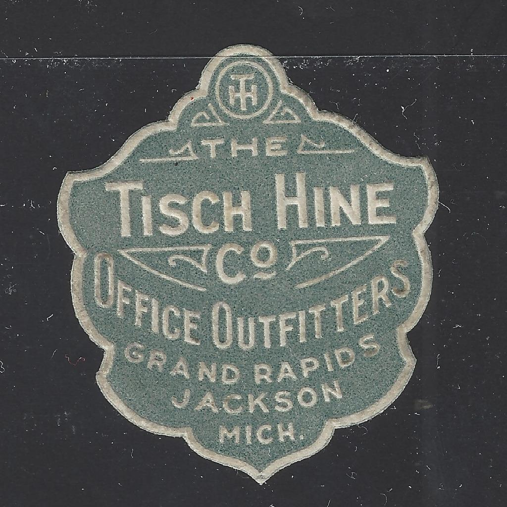 Vintage Tisch Hine Office Outfitters Grand Rapids Mi Ad Poster Stamp Ba36 Hipstamp