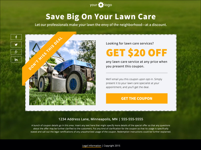 Landing Page Download Free Coupon Template - coupon template download