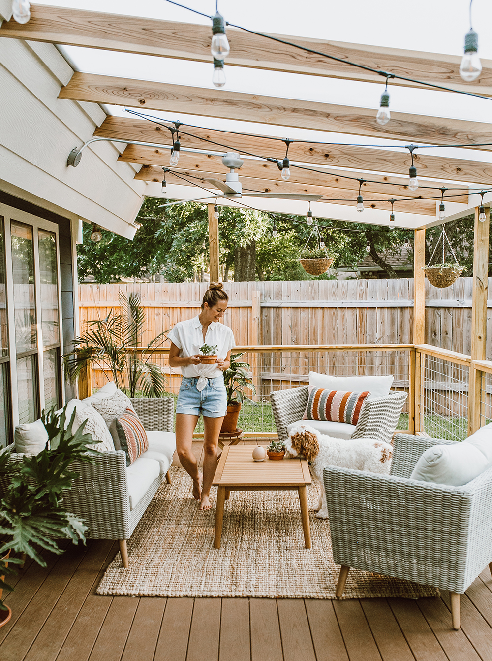Terrassenüberdachung Diy Before After Our Patio Reveal Livvyland Austin Fashion And