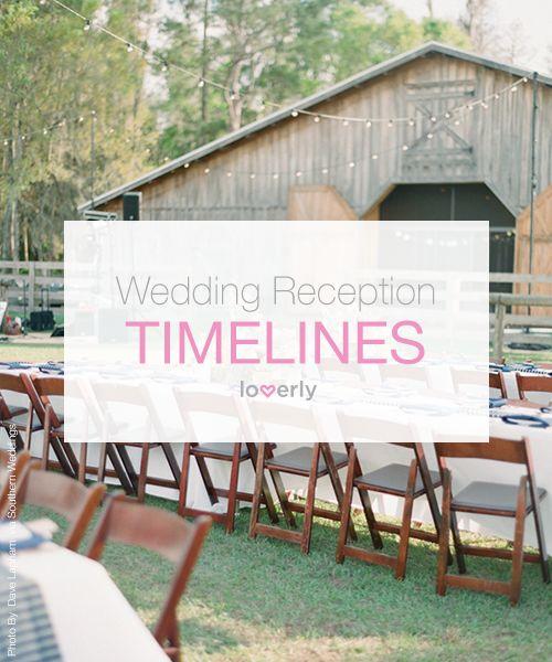 3 Sample Wedding Reception Timelines