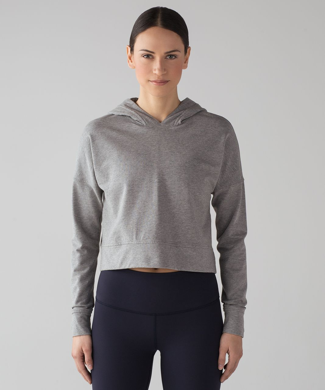 Pullover Hoodie Cut Lululemon Cut Above Pullover Heathered Medium Grey