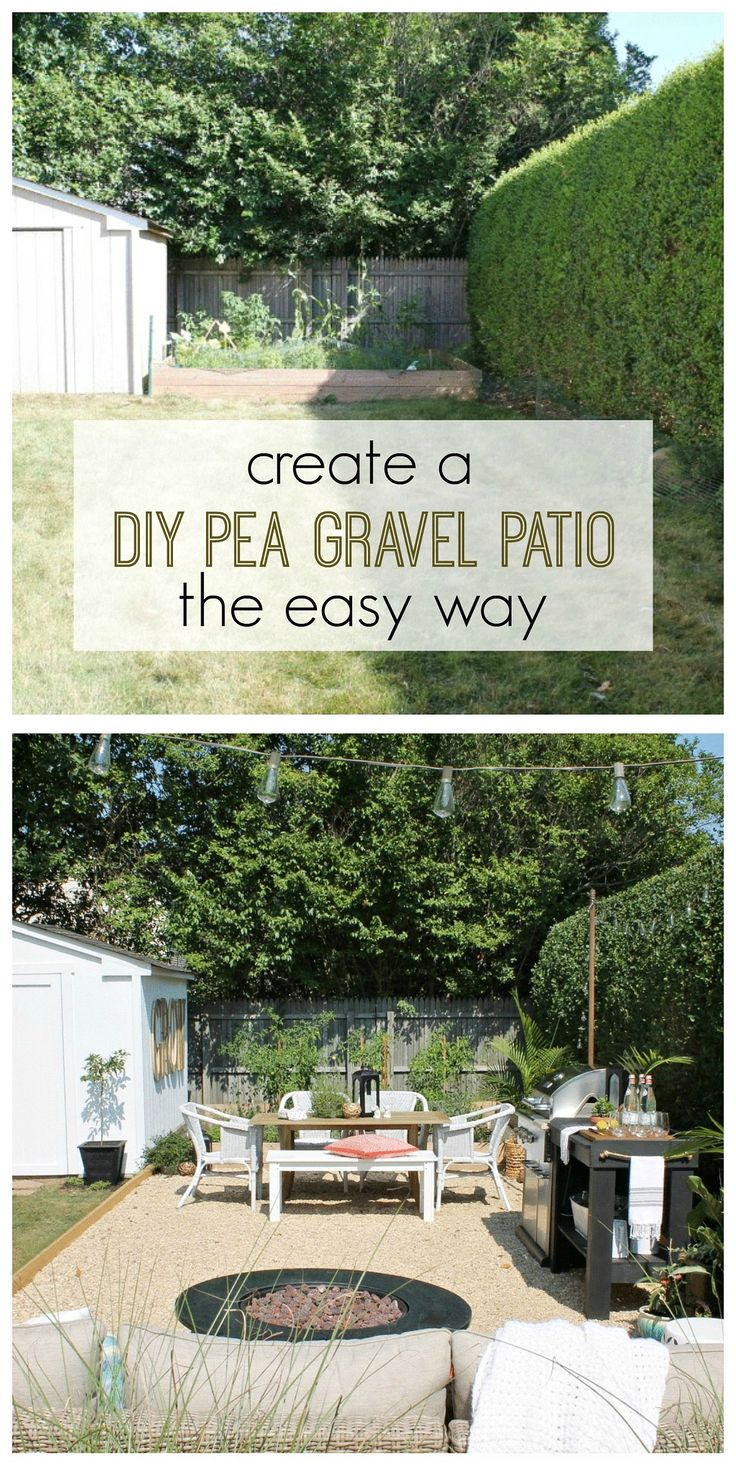 Staggering Create A Diy Pea Gravel Patio Easy I Know You Have Been Eagerlyawaiting Details On My Pea Gravel This Was Not Only Easy Butgave Us Diy Patio Projects outdoor Backyard Projects Ideas