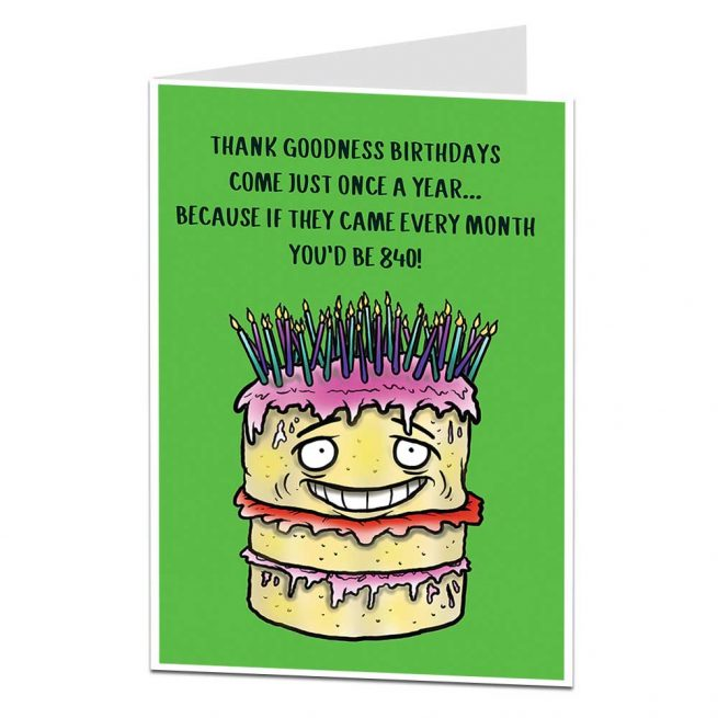 70th Birthday Cards Funny Silly Rude LimaLimauk
