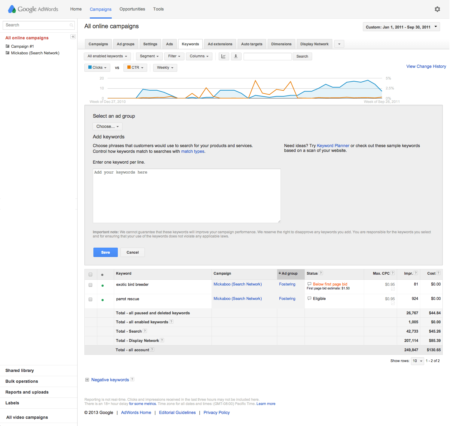 Google Adwords Keywords Set Up Broad Match Modifiers Previous Google Ads Help