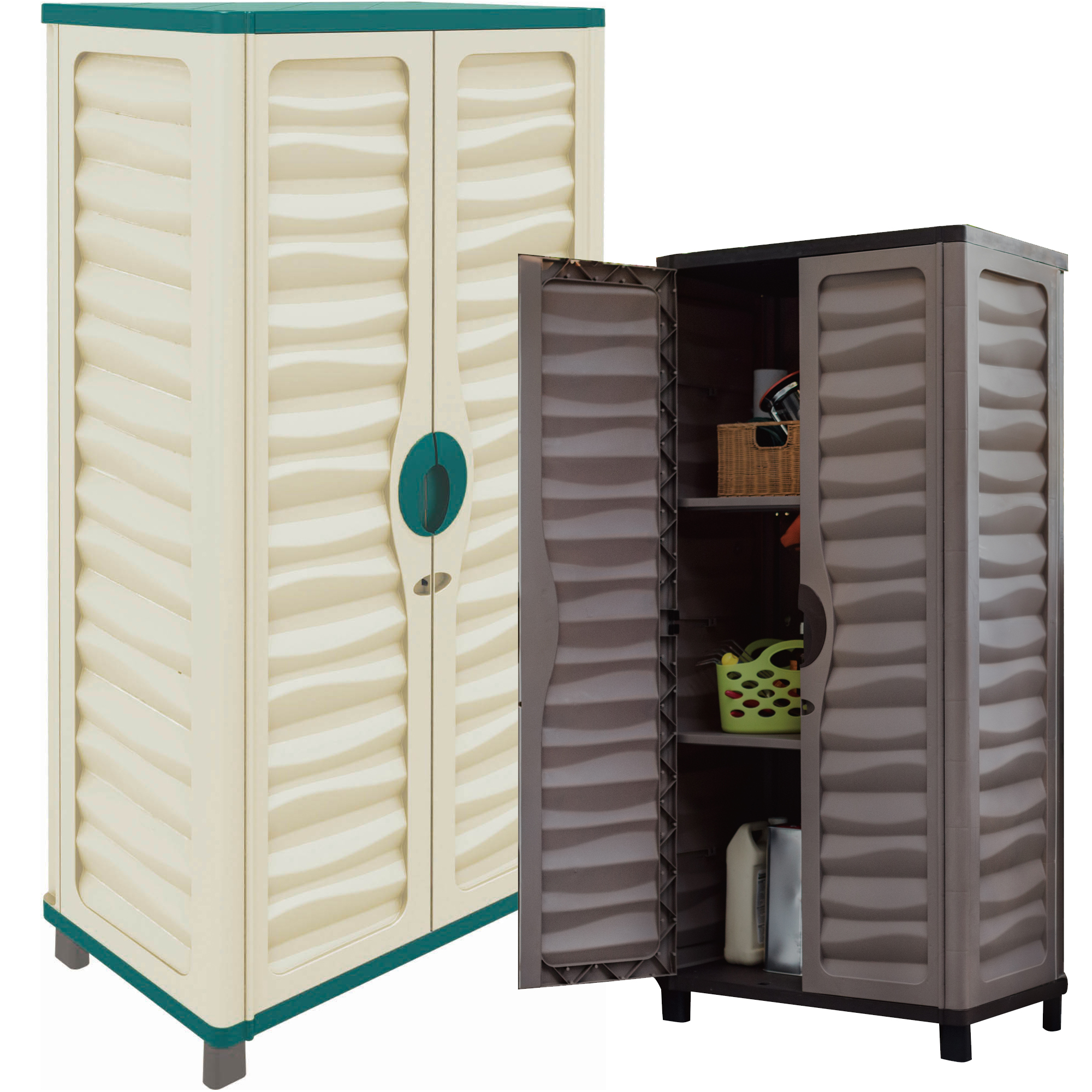 Garage Utility Cabinets Details About Utility Cabinet Outdoor Garden Plastic Storage Unit Garage Tool Box 2 Colours