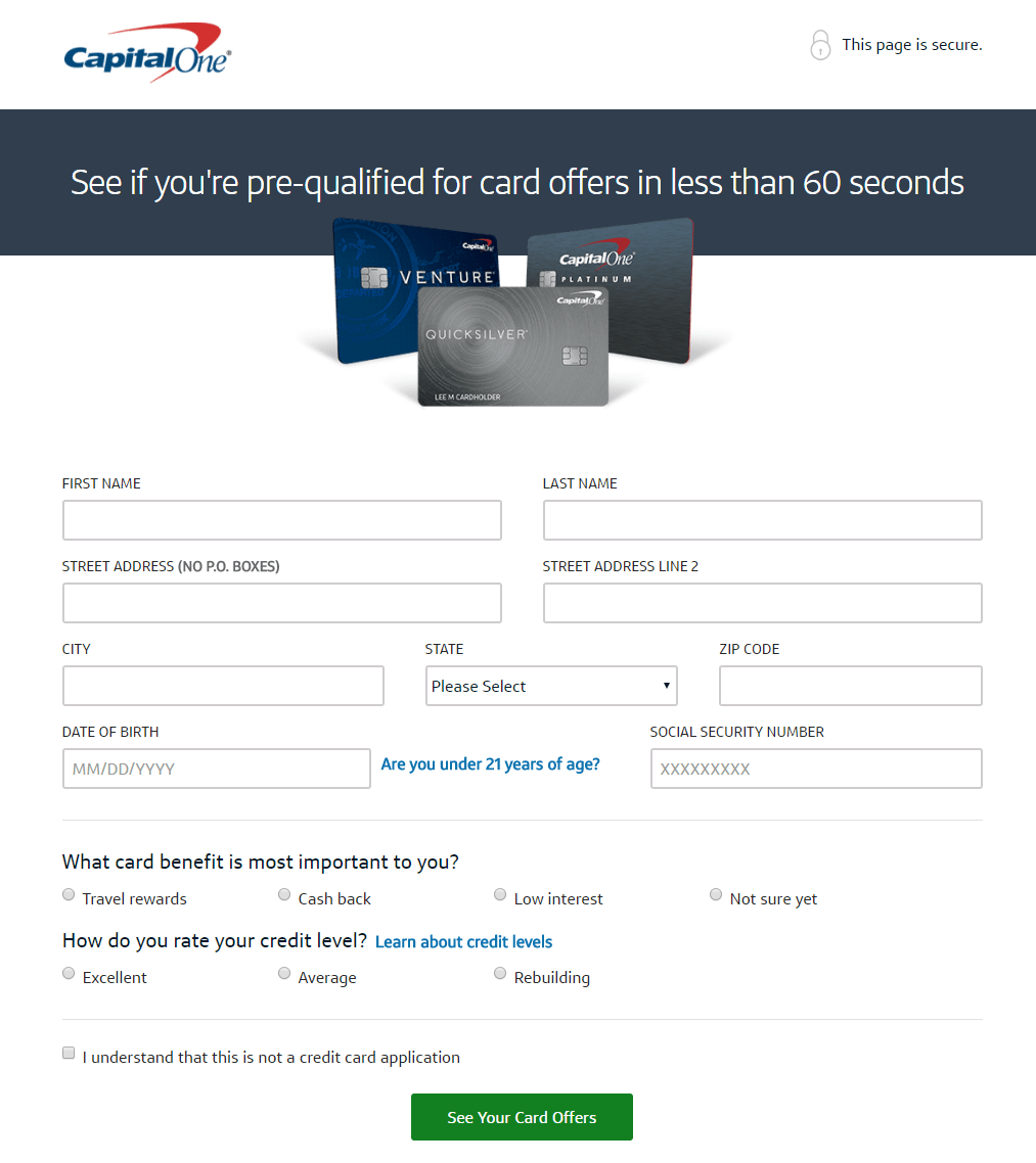 Which Credit Bureau Does Capital One Use 10 Credit Card Landing Page Examples That Show The Importance Of