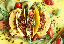 Mind Easy Quinoa Taco 22meat22 Thats Crispy Flavorful Protein Packed 9 Ingredients So Easy Healthy Vegan Glutenfree Quinoa Tacos Mexican Recipe 768x1128