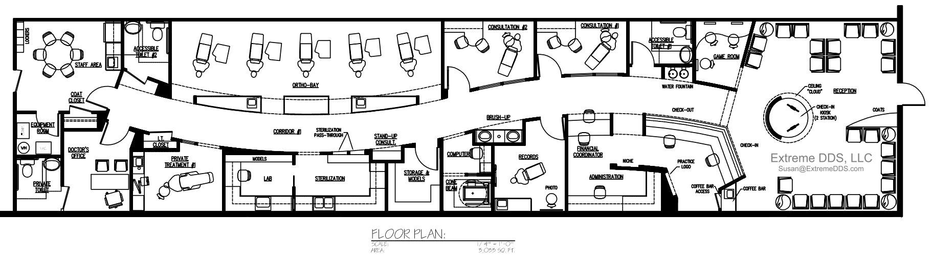Dental Office Floor Plans Orthodontic And Pediatric