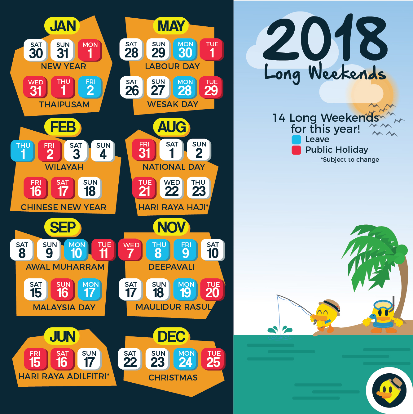 School Hoildays Updated With School Holiday 12 Long Weekends For Malaysia In 2019