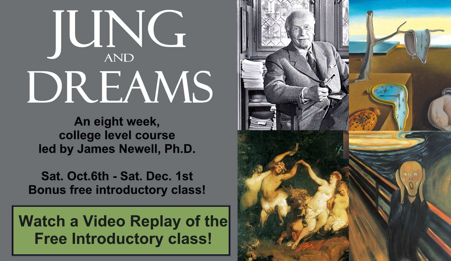 Jung And Dreams An Eight Week College Level Online Course Depth Psychology Alliance