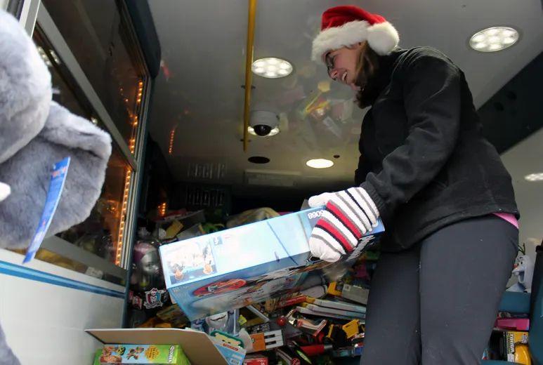 Toy Donations Fill Frontenac Paramedics Ambulance The