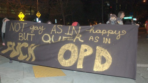 Not gay as in happy, but queer as in fuck OPD