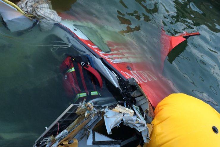 Drona care a filmat elicopterul SMURD prabusit in lacul Siutghiol, gasita de anchetatori